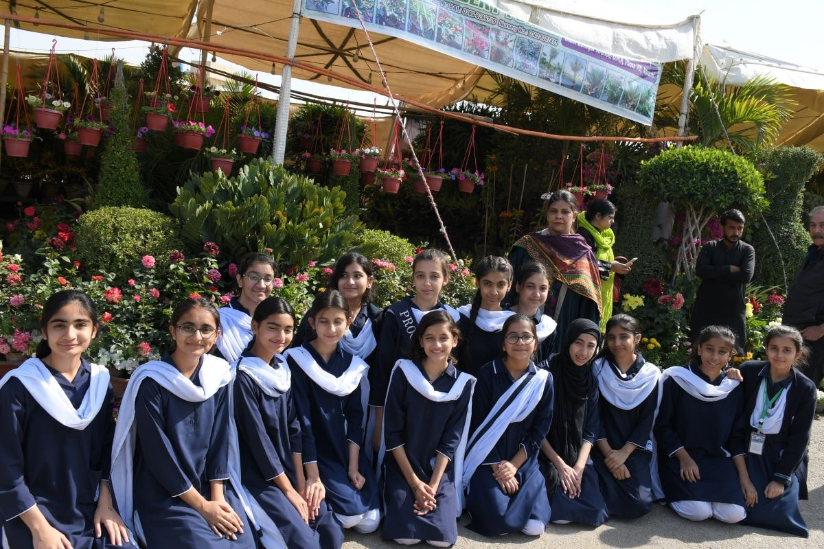 Flower Show 2020 visit by students