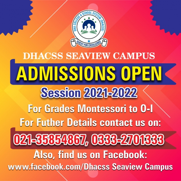 Admissions Open for 2021-2022